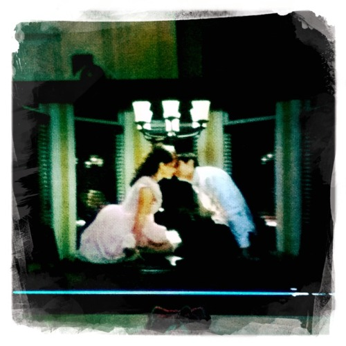 Nathan & Haley Sixteen Candlesing it. Aww Taken with Hipstamatic