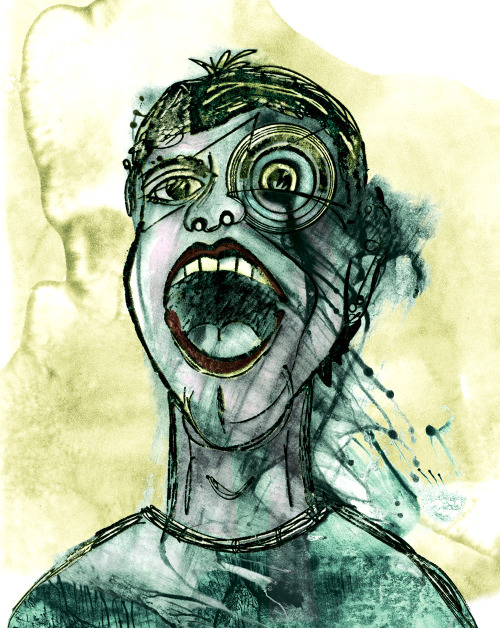 Eye Scream (9 x 12) print on water color paper.