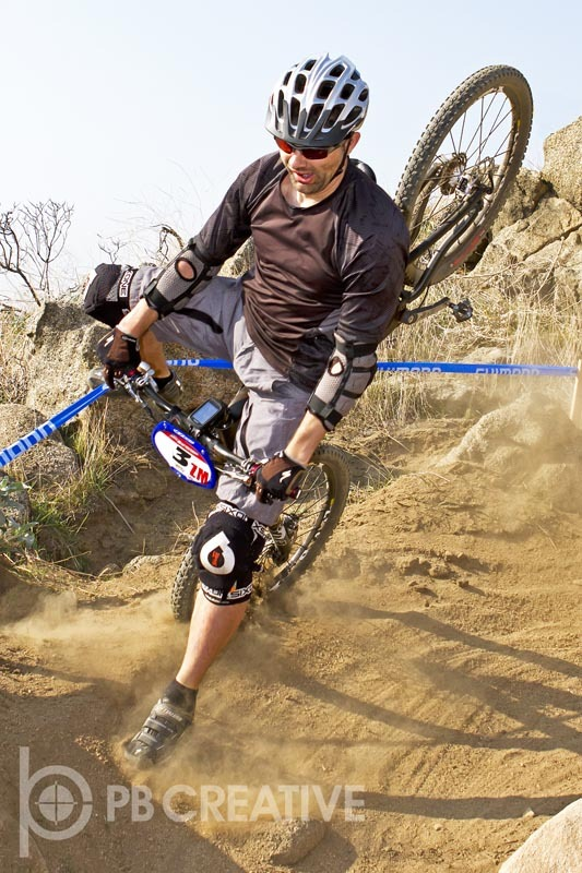 Super D mountain bike racing can get a tad, um, intense.