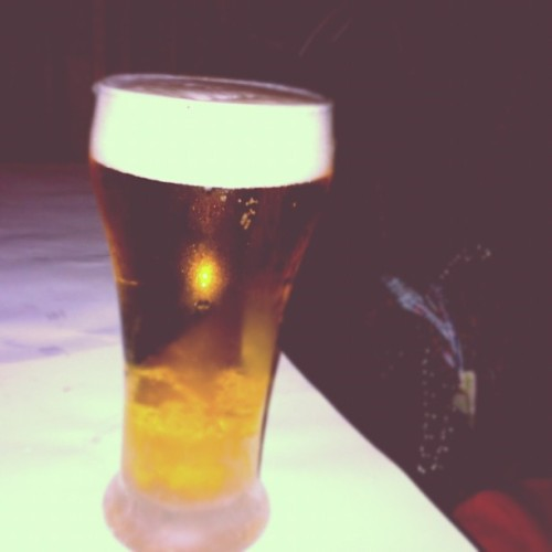 freemindedyouth:  The first beer I poured #PERFECTLY ?? (Taken with instagram)
