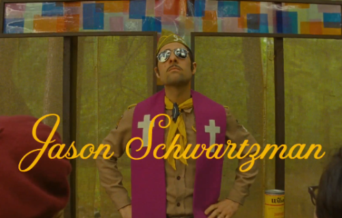 Quick thoughts on Moonrise Kingdom: 1) Jason Schwartzman easily has the most bad ass title screen. 2) Why the hell did Wes change fonts? I am lost when he doesn't use Futura typeface. 3) Is this really Wes' first feature film without a Wilson brother in it?