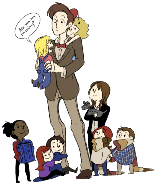 notthiscrap:  The Doctor with Companion!Children for Anon.