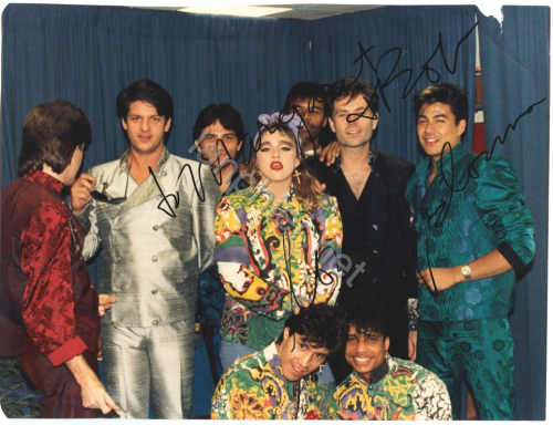 Madonna with Virgin Tour Band - 1985