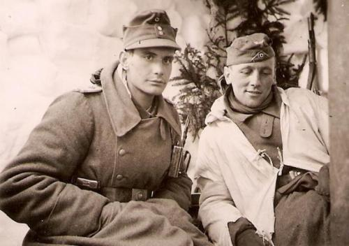Two German soldiers on the Eastern Front