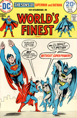 comicbookcovers:  World's Finest #221, February 1974, cover by Nick Cardy