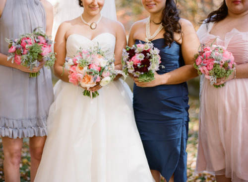 Beautiful bouquets designed by JMFlora Design and photographed by Jodi Miller Photography…see more at The Bride's Cafe!