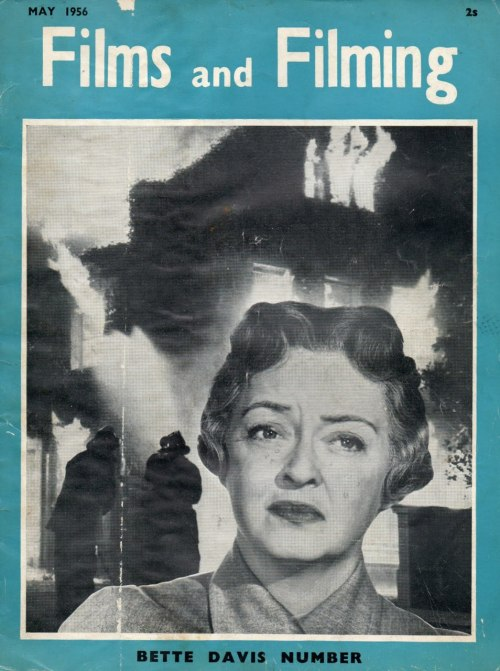 elizabitchtaylor:  Bette Davis on the cover of Films and Filming, 1956