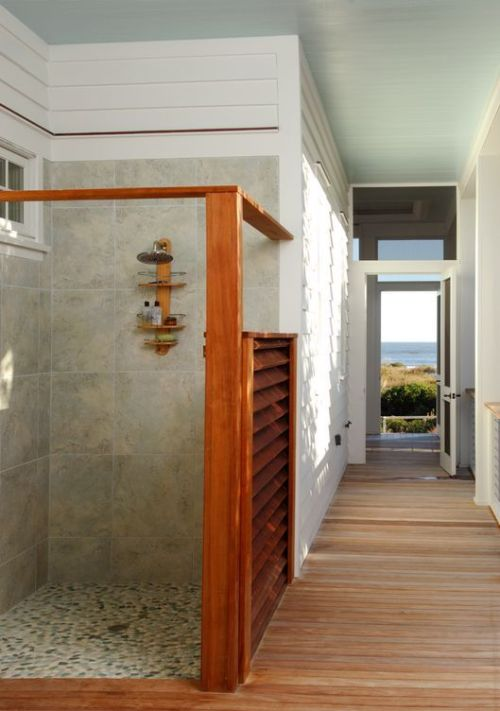 georgianadesign:  Outdoor shower in a beach front renovation by Herlong & Associates.