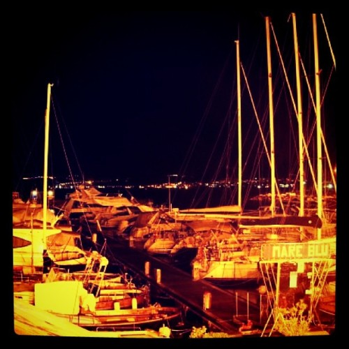 #instagramers #photo #tumblr #instagram #pozzuoli #barche #night (Taken with instagram)