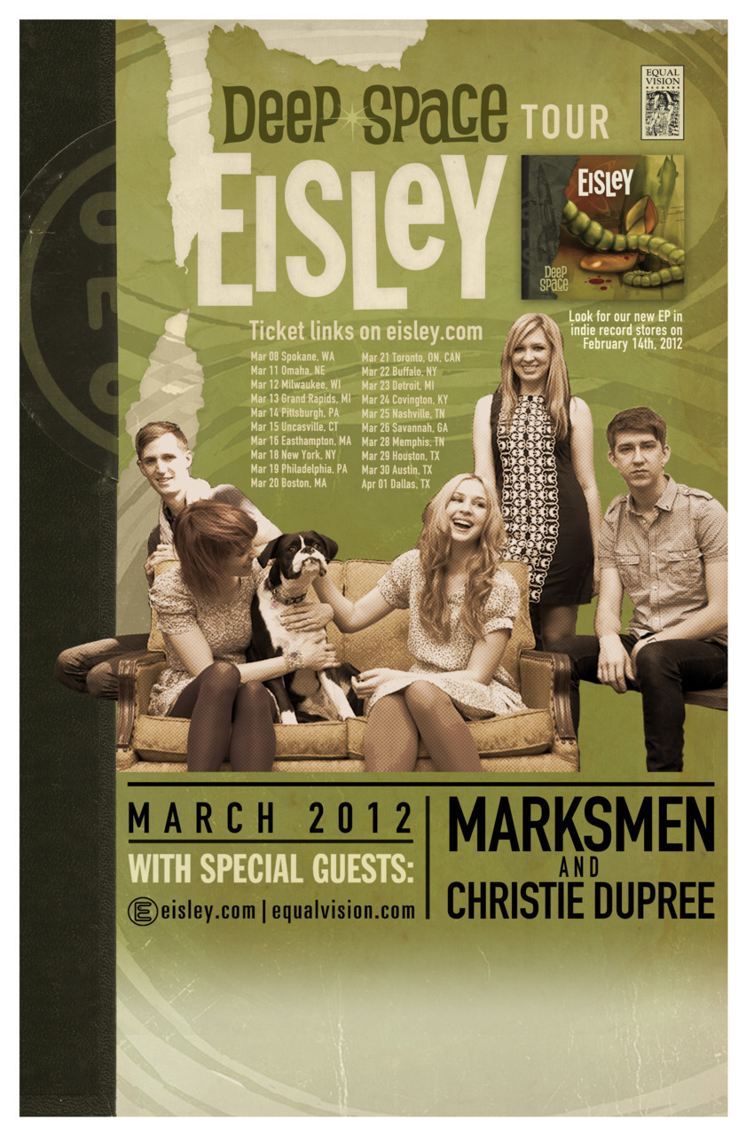 Holy Shit,Eisley is coming to Toronto…I've waited years, n' years for this.You don't understand how excited I am.AND It's during Canadian Music Week….YES.