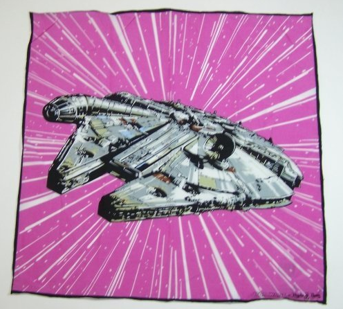 Millenium Falcon pocket square — Because you know damned well that Han shot first. (Also available in grey and blue.)