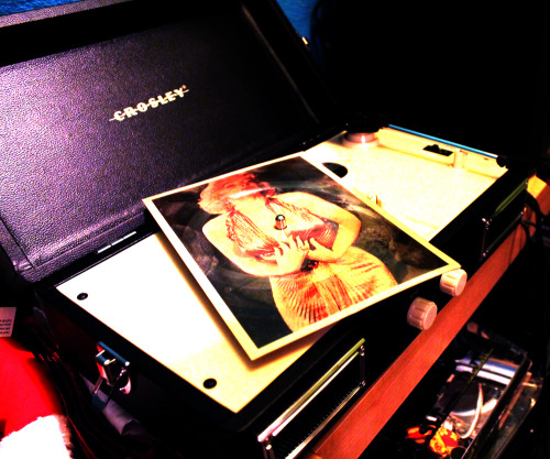 Marilyn Monroe Postcard Record on my Crosley…