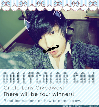 abstruseness:  FIRST CIRCLE LENSES GIVEAWAY. http://abstruseness.tumblr.com/http://www.facebook.com/pages/Dolly-Color/297517180265602 Rules: 1. Reblog this post. Don't delete this text post when you reblog.2. Must be following me.3. Must like Dolly Color's facebook page. Reblog as much as you like. Likes do not count. The winners may chose any pair of circle lens from their website. There will be 4 winners. The winner will be announced on February 17, 2012. This giveaway will end on February 13, 2012. DO NOT REBLOG TO SECOND ACCOUNT. I WILL CHECK THE WINNER'S ARCHIVE. I will host a giveaway for skincare products soon ^^.Photo credit: christinetofu. Good Luck ^O~!