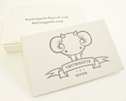 TINYTWIGGETTE Letterpress Business Cards   Thankyou to Dingbat Press for doing a great print job! YAY! Featured on Cardonizer 2012