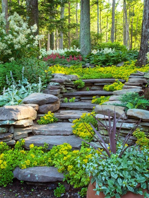 (via Gardens / love these natural settings. @Vonda Henthorne for your yard)