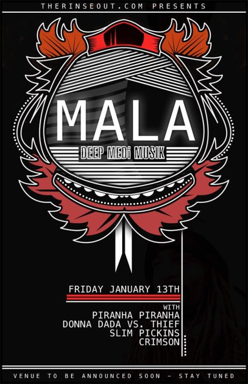 Starting off the year right, with Mala coming to #yyc this Friday, January, 13/12Probably one of the luckiest friday the 13's in the world.