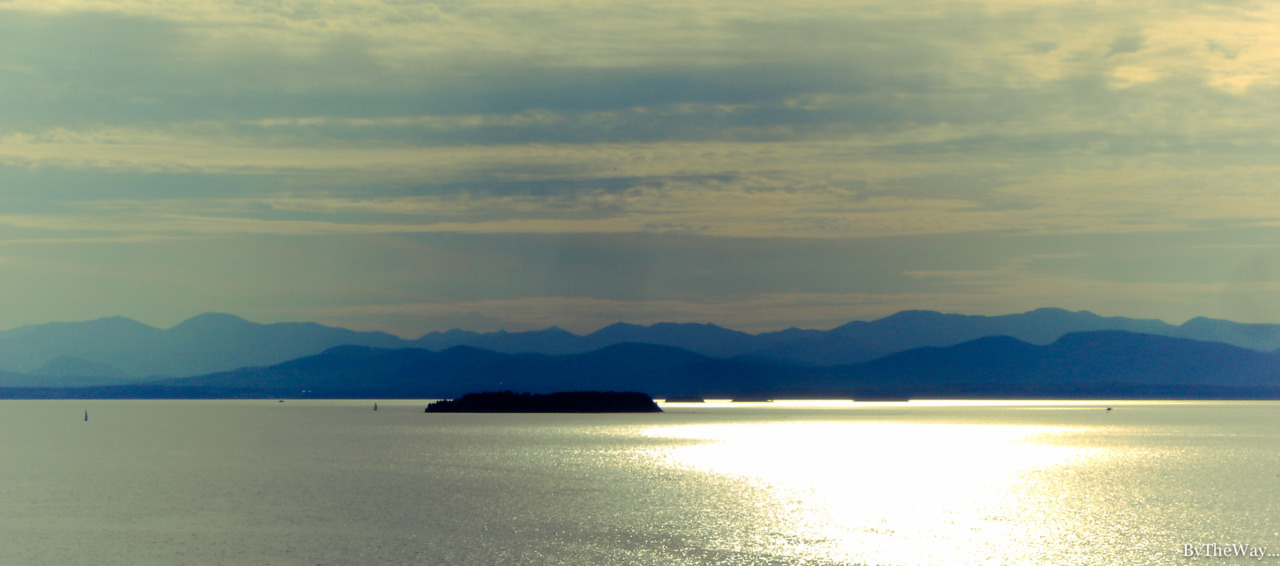 Lake Champlain and the Adirondacks from Burlington, Vermont