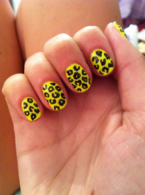Fluro yellow leopard :)