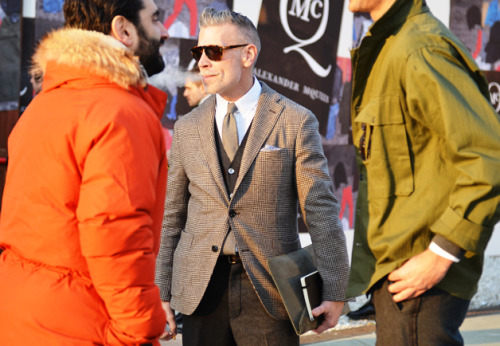 Pitti Uomo 81 A good example of how neutrals can surpass bolder shades…