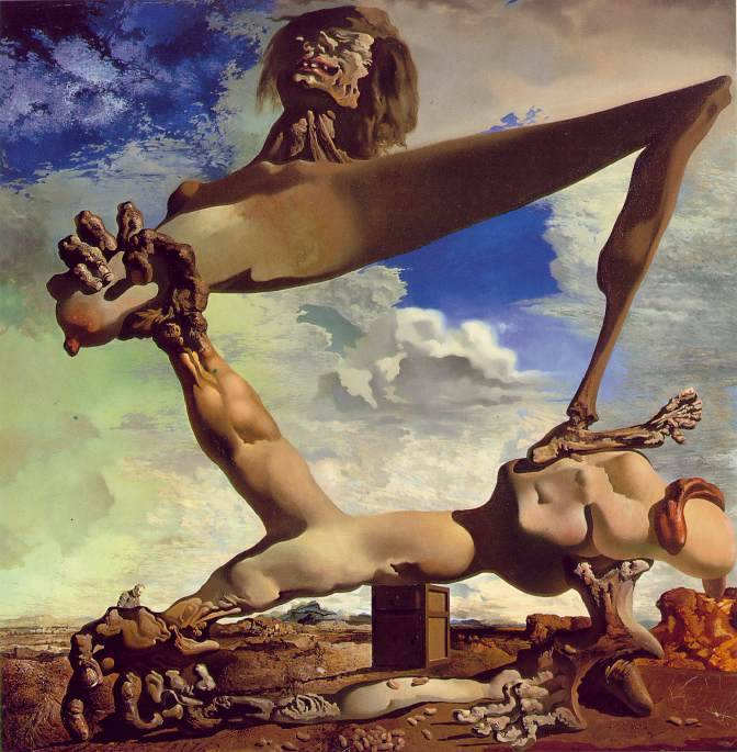 artpedia:  Salvador Dalí - Soft Construction with Boiled Beans: Premonition of Civil War, 1936.Oil on canvas  Everyone who has ever tried painting with oil colours must understand how fucking talented this guy was. Gets me speechless.