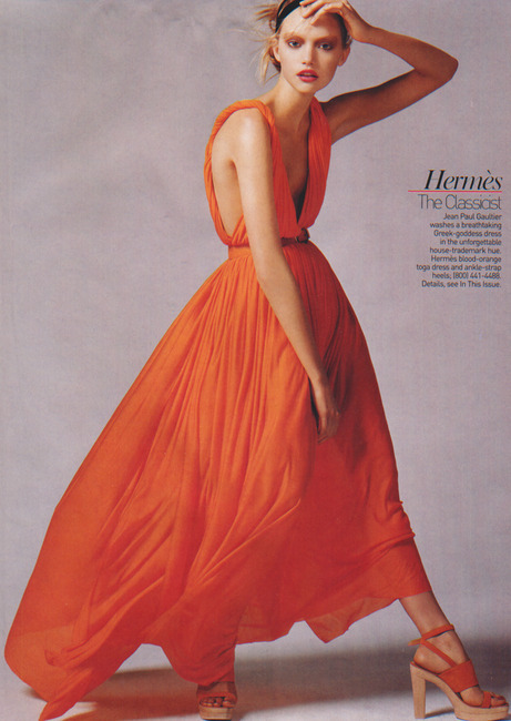 walkingthruafog: Gemma Ward in Hermes S/S 2006 for Vogue