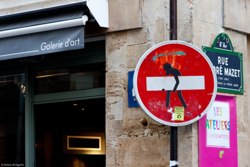 Road sign in Paris
