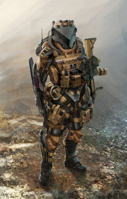 Now this is a full-body ballistic armour aesthetic that I can get behind!