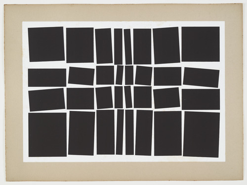 linesinspace:  Hélio Oiticica Metaesquema - 1959 Gouache on board