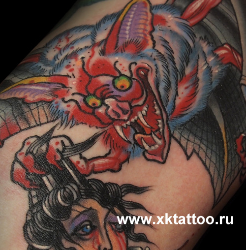 Happy friday the 13th everyone!  XK Tattoo. Russia, Moscow. 1 session.