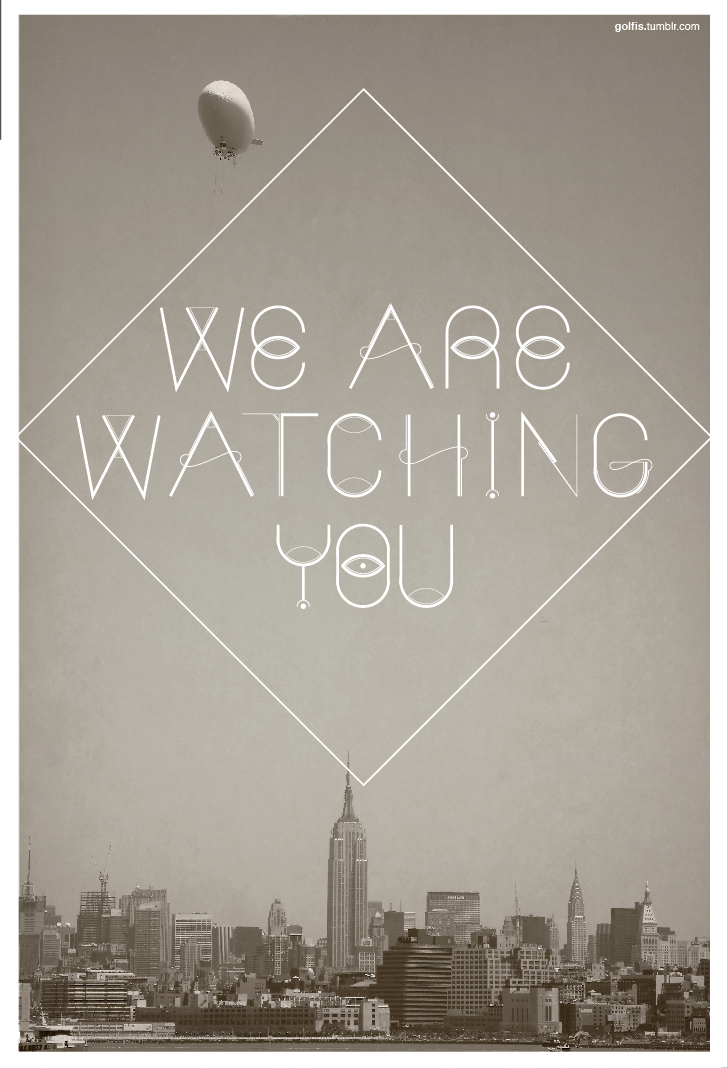 golfis:  We are watching you. Another treatment of Observer typeface. link