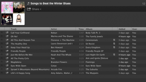 hellogiggles:  Playlist Of The Week: SONGS TO BEAT THE WINTER BLUES by Corinne Caputo