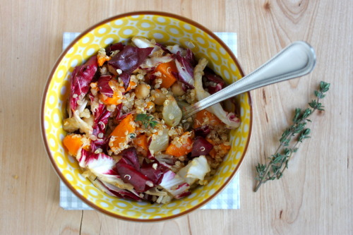 quinoa, butternut squash, fennel, and radicchio