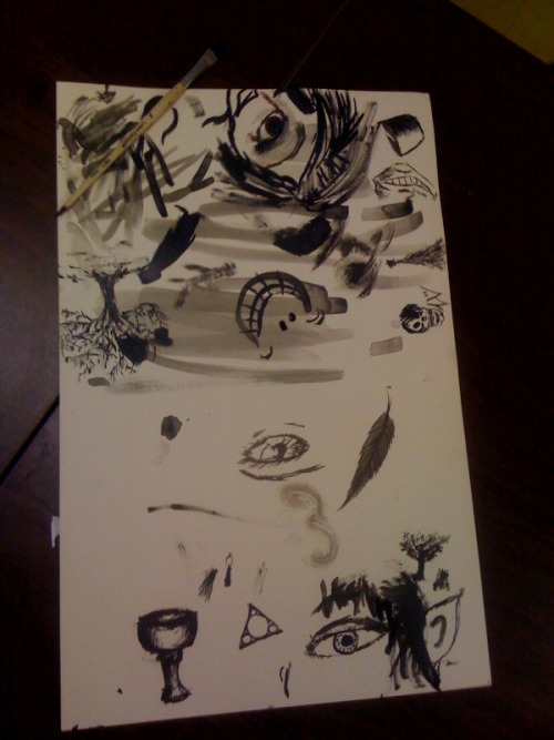 This is what happens when you give my advanced art class india ink.