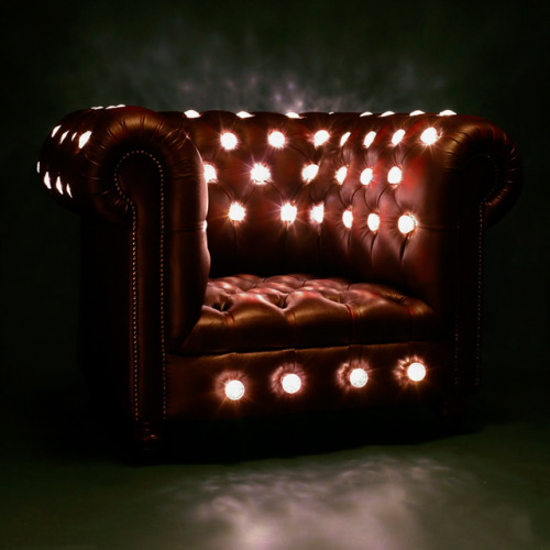 LED club chair by Lee Brown