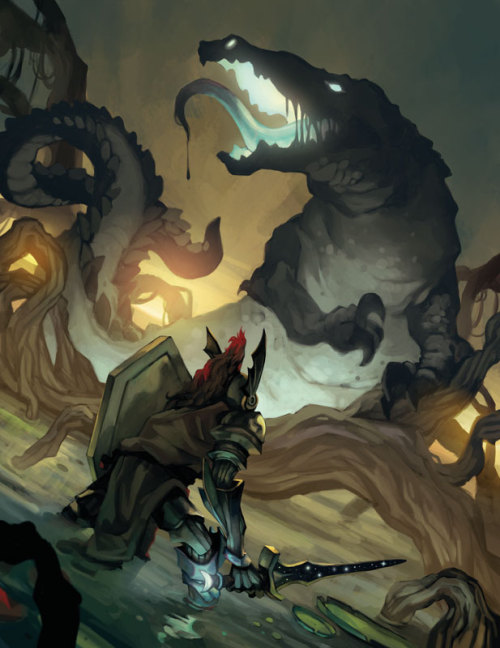 thesmallgods:  Knight vs Dragon. A staple in fantasy.