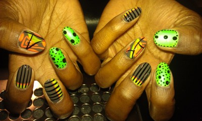 Neons,abstract,stripes and dots…
