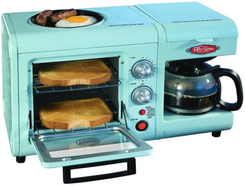 laughingsquid:  Nostalgia Electrics Retro Series 3-in-1 Breakfast Station  Ummm… I want this.