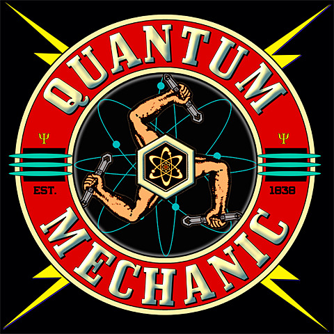 A Quantum Mechanic T shirt with a retro look…