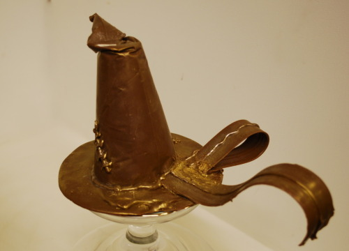 Solid chocolate Sorting Hat from Harry Potter