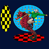"A  T shirt design named ""Seahorse Time Ride"" from RedBubble"