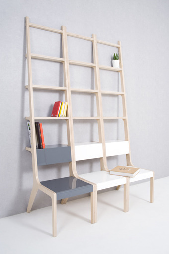 "idreamcreateandadmire:  Object-B ""I climb on a chair. I put books on a ladder. If things are freed from their own unique functions, we might agonize over how to use this objects."" by Seung Yong Song"