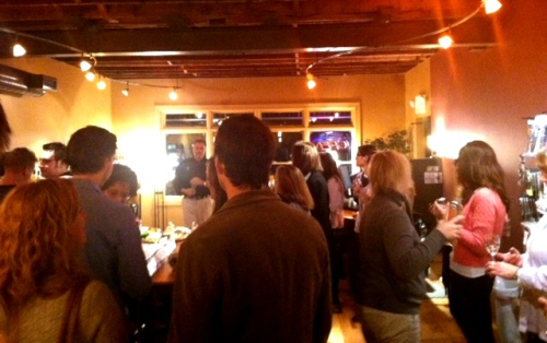 Tasting Photo: Ten Thousand Vines Winery. 1/12/12. Karen Glosser