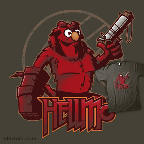 shirtoid:  Hellmo available at RedBubble