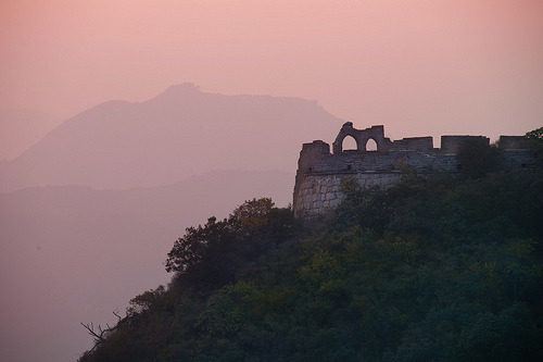 Great Wall in the Evening Light (by Stuck in Customs)