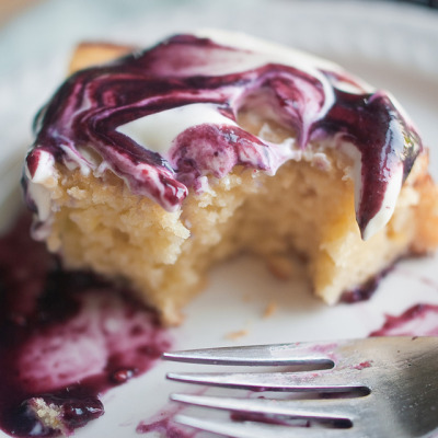 Lemon and Olive Oil Yogurt Cake with Fresh Blackberry Limoncello Sauce