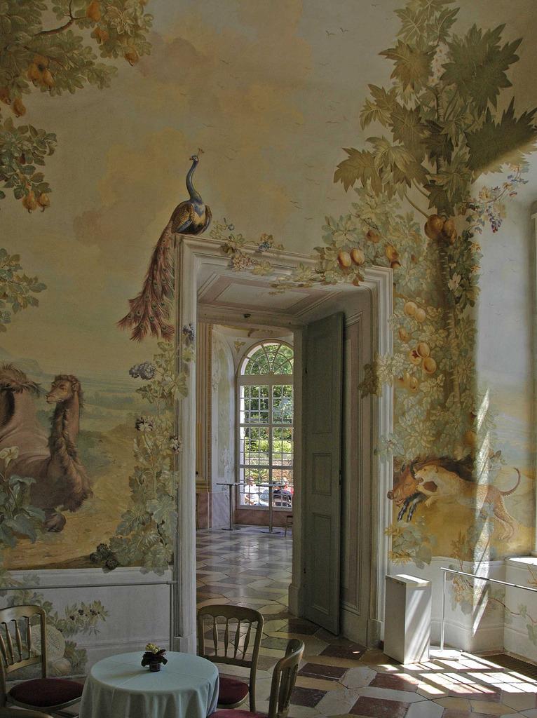 The garden pavilion with frescoes by Johann Wenzel Bergl, Stift Melk, Benedictine monastery,Austria