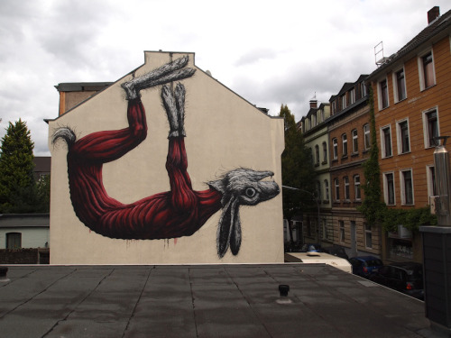 kimblasiansue:  ROA Around the World: Cologne, Germany; September 2011. Cityleaks Festival many thanks to Anne and John