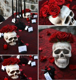 Skulls and Red Roses (via pinterest)