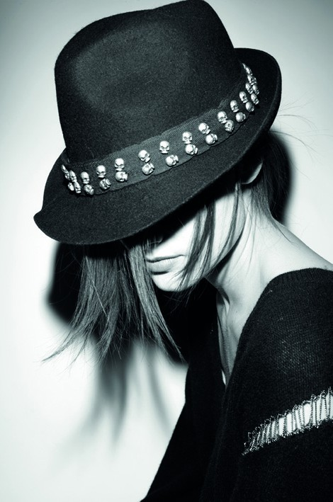 Zadig and Voltaire Skull Studded Hat
