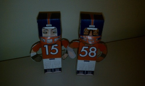 Tim Tebow and Von Miller are ready for the Patriots. Happy Orange Friday and GO BRONCOS!